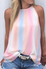 Rainbow Tie Dye Halter laza tartály