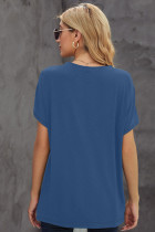 تی شرت چاپ قاصدک گردن آبی خدمه