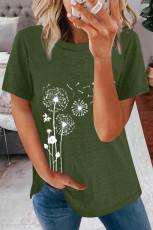 تی شرت چاپ قاصدک گردن Green Crew