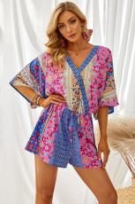 Floral Mix Kimono ermet romper