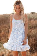 لباس گل آبی آبشار بابیدول