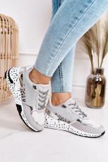 Leopardmintás fűzős cipők