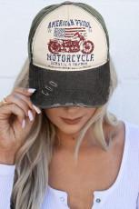 American Flag Motorcycle Letters baseball sapka
