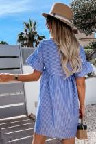 Mini-robe nuisette rayée à manches volantées