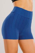 Short de yoga bleu anti-cellulite