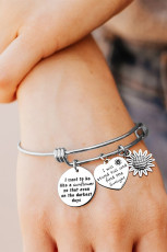Slivery Bracelet Pendanting Name