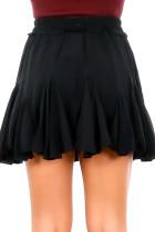 Czarna koreańska plisowana spódnica mini Tutu z wysokim stanem