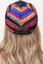Tengastika hedûştî Splicing Rainbow Stripes Baseball Cap