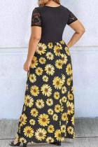 Zêdeyî Mezina Lace Twist Twist Knot Maxi Dress