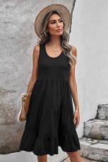 لباس مخزنی بدون آستین گردن گردن سیاه