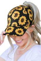 Kšiltovka Sunflower Print Ponytail Baseball Cap