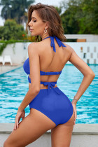 Halter Halter Neck Criss Cross Set High Bikini Waist