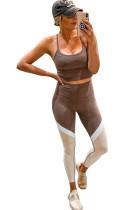 Color Block Cami -housut ja korkean vyötärön leggingsit