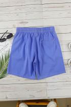 Blå termokroma casual sportshorts för män