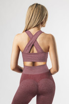 Roter Criss Cross BH und Leggings mit hoher Taille Sportbekleidung