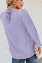 Purppura Swiss Dot Smocked pitkähihainen paita