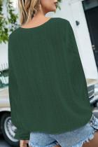 Vihreä V-aukkoinen puff-paita sveitsiläisillä paitapuseroilla