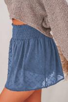 Neformální šortky se švýcarskými tečkami v modrém pasu