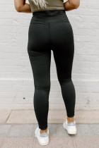 Musta repi korkea vyötärö laiha leggingsit