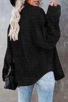 Černá švýcarská tečkovaná kapsa s dlouhým rukávem