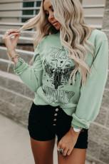 Xewn li ser Sweatshirt Pullover Printing Grafîkî ya Dreamer