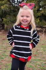 Hoodie Kids Buffalo Plaid Stripe with Kangaroo Pocket