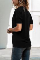 T-shirt Kirasê V Nekolîn Dakura Reş
