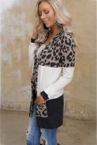 Cardigan Leopard Block with Pocket