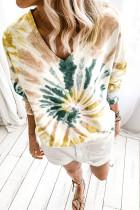 Günlük Batik V Yaka Kazak Sweatshirt