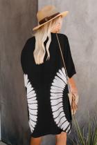 Siyah Batik Önü Açık Kimono Hırka