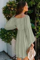 Neliö kaula-aukkoinen hihaton Babydoll-tyylinen lyhyt mekko
