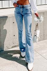 Vintage pestyt flare-farkut taskuilla