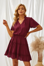 Ineeraba Sor V V Stûyê Ruffled Mini Dress