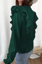 پیراهن آستین حبابی کاملاً خال خال بافتنی