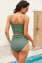 Bikini z wysokim stanem Green Smock