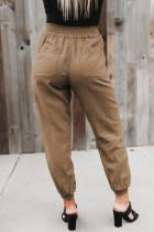 Cepli Haki Beli Lastikli Jogger Pantolon