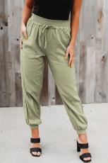 Beli Lastikli Yeşil Cepli Jogger Pantolon