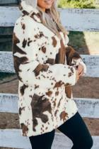 Fleecová mikina na zip s kravatovým potiskem