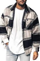 Pánská bunda s kostkovaným potiskem