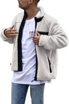 Pánský Sherpa kabát s bílým stojáčkem na zip