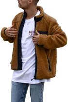 Pánský kabát Sherpa se stojatým límcem