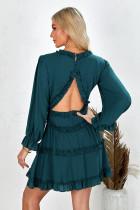 Đầm hở lưng có cổ chữ V xanh lá