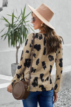 Langärmlige Bluse mit Leopardenmuster
