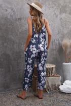 Tuta a gamba larga con spalline e stampa floreale Floral