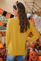ハロウィンアニマルプリントパンプキングラフィックスウェットシャツ