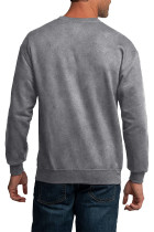 Ανδρικό πουλόβερ με ανδρικό πουκάμισο με γκρι γραμματοσειρά