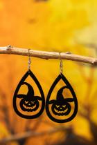 Halloween Pumpkin Witch Water Drop hule øreringe