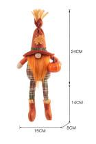 Halloween Fågelskräm Dvärg Kramar Pumpa Ansiktslös Manlig docka