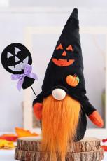 Halloween ansiktslös gnome plysch Rudolph docka prydnad