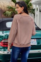 Roze French Terry katoenmix sweatshirt